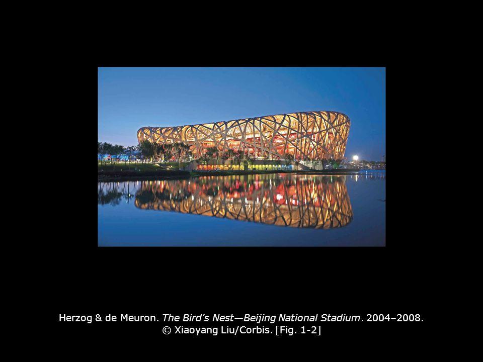 Herzog & de Meuron. The Bird's Nest—Beijing National Stadium. 2004–2008. © Xiaoyang Liu/Corbis. [Fig. 1-2]